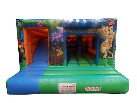 Jungle Cabin Bouncer with Slide