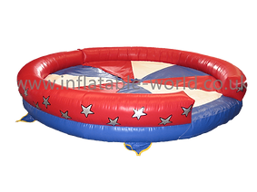 Inflatable Rodeo Bull bed Red, White and Blue themed Rodeo bed