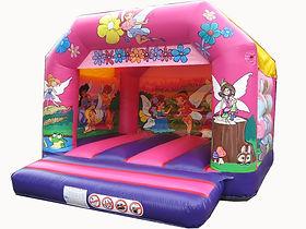 Fairies Pink A-Frame Bouncy Castle