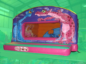 Dragon themed Box Unit Bouncy Castle