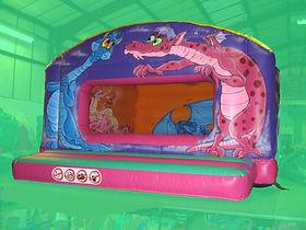 Dragon themed Box Unit Bouncy Castle