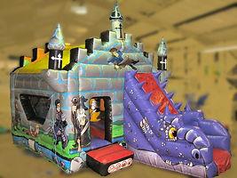 Purple Dragon Front Slide Combi Bouncy Castle