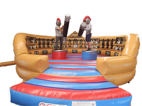 Inflatable Gladiator Game Deluxe Roman Style Half Artwork