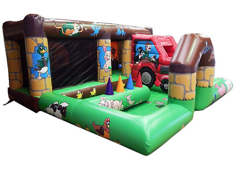 Toddler Activity 16 x 16 Farm Theme Bouncy Castle