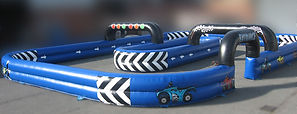 Inflatable Quad Track - Blue with Black Arches