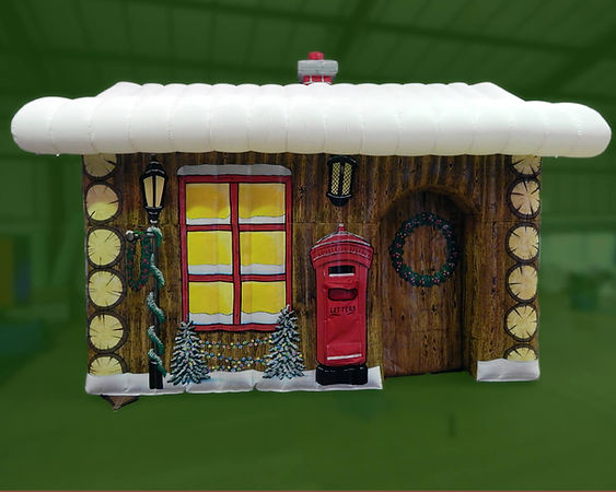 Deluxe Inflatable Log Cabin Grotto