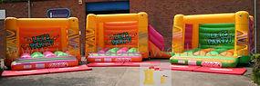 H Frame with Side Slide Bouncy Castle