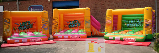 H Frame with Side Slide Bouncy Castle