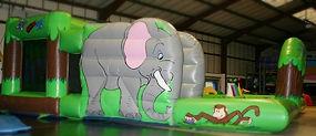Toddler Activity 18 x 18 Jungle Theme Bouncy Castle