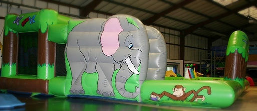 Toddler Activity 18 x 18 Jungle Theme Bouncy Castle