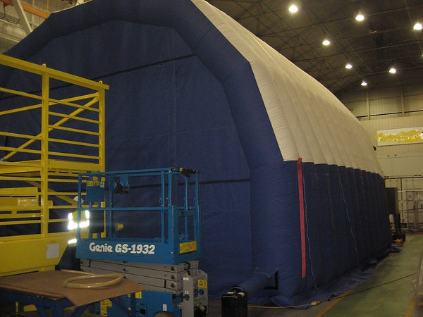 Inflatable Power Generation Worktent