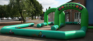 Inflatable Small Track for Mini Tractors - Green in Farm theme