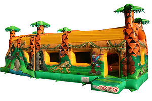 Two Part Fun Run Jungle Bouncy Castle