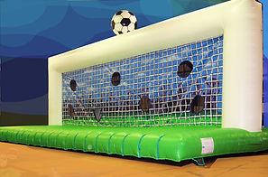 Inflatable Football shootout game Supersize Shootout with bounce bed