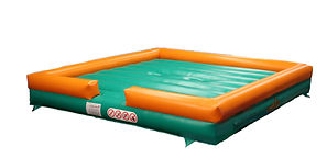 Inflatable Gladiator game with Simple Square Bed with logo artwork