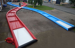 Inflatable Zorb track