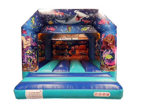 Mermaid undersea artwork on Front, Back wall and sides, Stitched in Roof, Webbed Bed