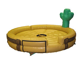 Inflatable Rodeo Bull bed Cactus on Plain Ranch fence theme