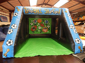 Inflatable Football shootout game  Budget shootout with Multi Sport Backdrop