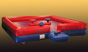Inflatable Gladiator Game with Square Bed in Corporate Colours