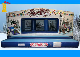 Large Winter Wonderland theme Box Unit Bouncy Castle