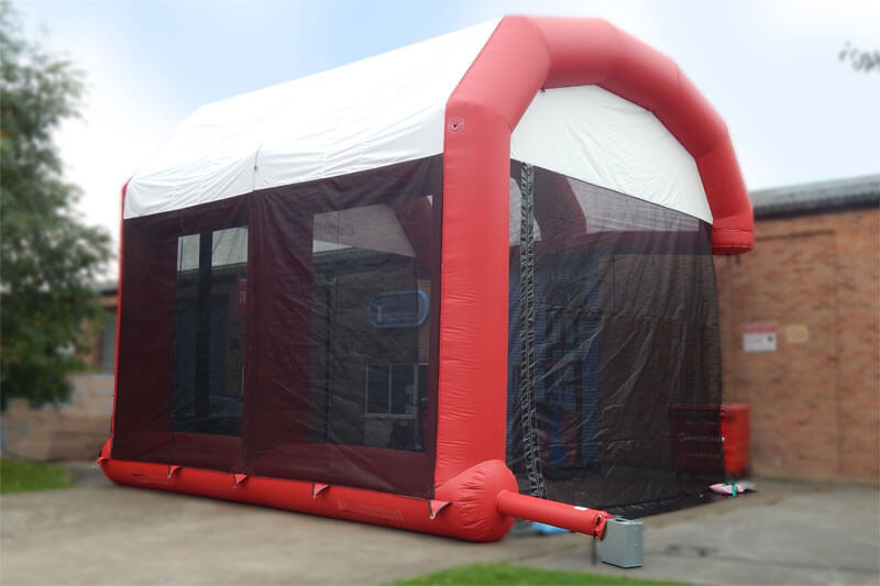 Latest Inflatable Workshelter in Custom colours, Inflatable building, Inflatable worktent for sale, Bespoke Inflatable building for sale, UK made inflatable building