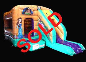 Princess Dragon Front Slide Combi Bouncy Castle
