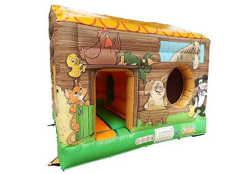 Farm theme Box Bouncer Bouncy Castle with Ball Pool area