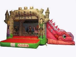 Dragon A Frame Side Slide Bouncy Castle