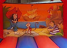Detail of classic Inflatable World Leisure Pirate artwork