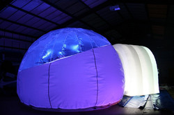 w Party Pod with Blue Light