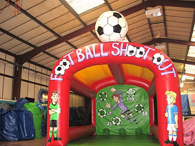 Red Arched Football Shootout with retractable football