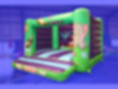 H Frame Bouncy Castle in Jungle theme