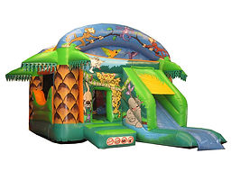 Jungle Bounce and Slide Combi with Palm trees