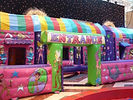 Circus Artwork on an Inflatable Barrier and Funrun