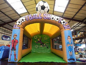 Corporate colours Inflatable Football Shootout game