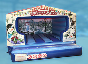 Medium size Winter Wonderland Box Unit Bouncy castle with Changeable panels on Front and Backwall
