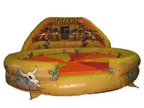 Inflatable Rodeo Bull bed  Western Style with artworked Back wall