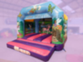 Unicorn theme Bouncy Castle by Inflatable World Leisure