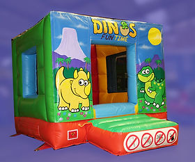 Tots Box Bouncer Bouncy Castle - Dino Panels