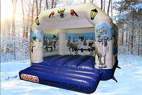Winter A-Frame Bouncy Castle