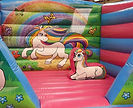 Unicorn Themed Biff and Bash on the Bounce Bed