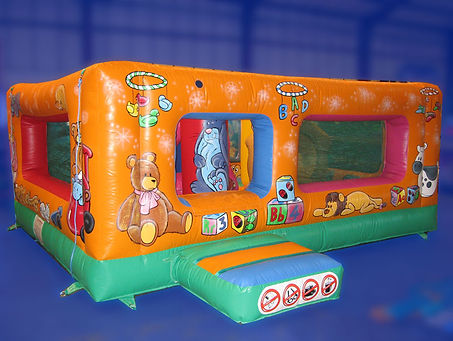 Large Tots Box style bouncer with lots of Biff and Bash