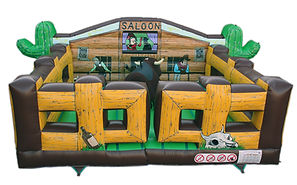 Inflatable Rodeo Bull bed  Western themed Square Rodeo Bed