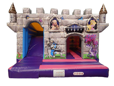 Princess Dragon 15 x 15 Bounce Cabin with Internal Slide Bouncy Castle