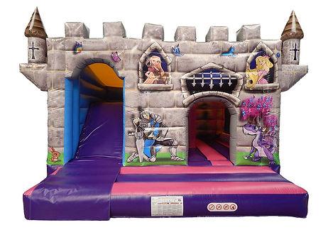 Princess Dragon 15 x 15 Bounce Cabin with Internal Slide Bouncy Castle