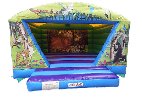 2021 New design Roofed V Bouncer with Sticky panels of Front and Back wall