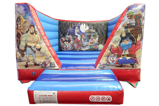 Nylon webbed bed bouncer with changeable theme back and front walls