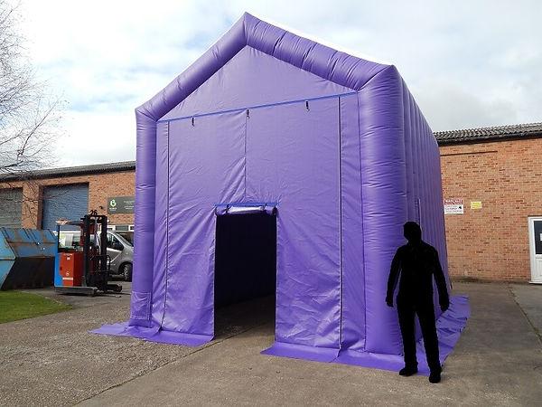 Apex Roof Purple Inflatable Worktent