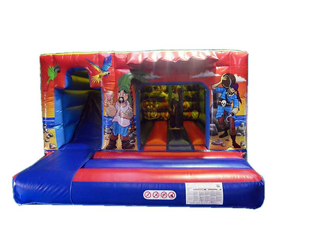 Pirate Cabin Bounce and Slide Combi Cabin Bouncy Castle